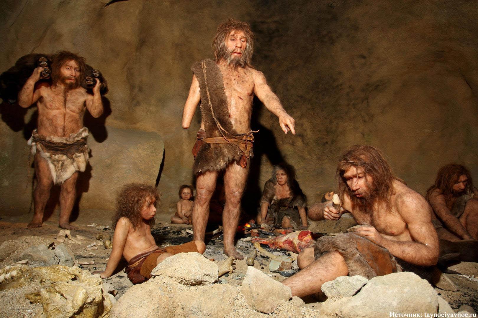 Пещерные люди в картинках, надписью