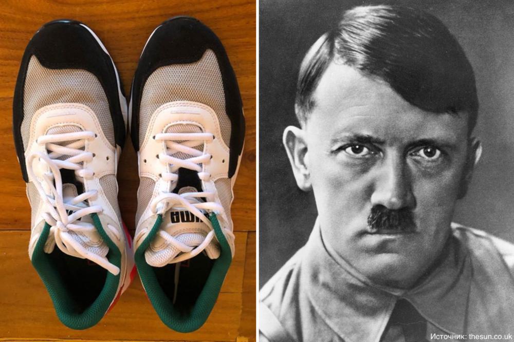 В дизайне кроссовок компании «Puma» разглядели портрет Гитлера